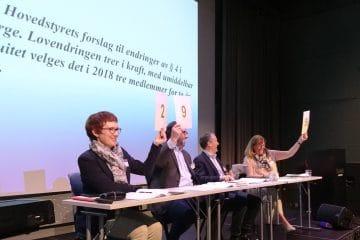 Foto av ordstyrere under GF i 2018
