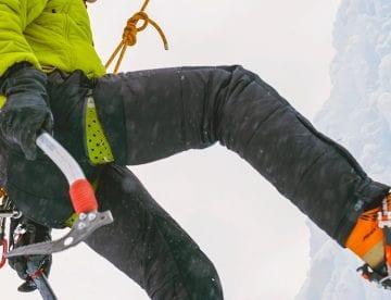 Foto av isklatrer