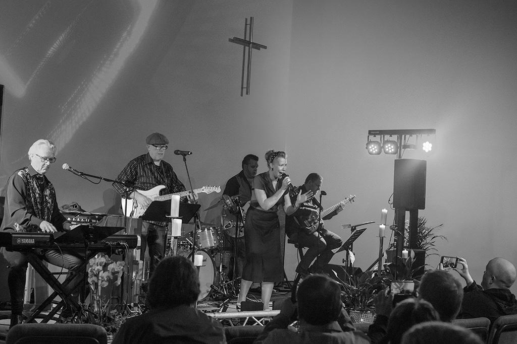 Foto av blueskonsert