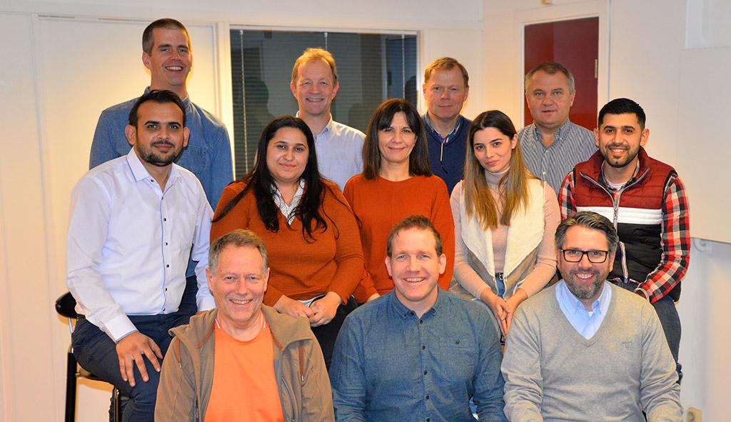 Gruppebilde fra besøket i Norge