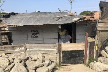 Hus med blikktak i Barranquilla