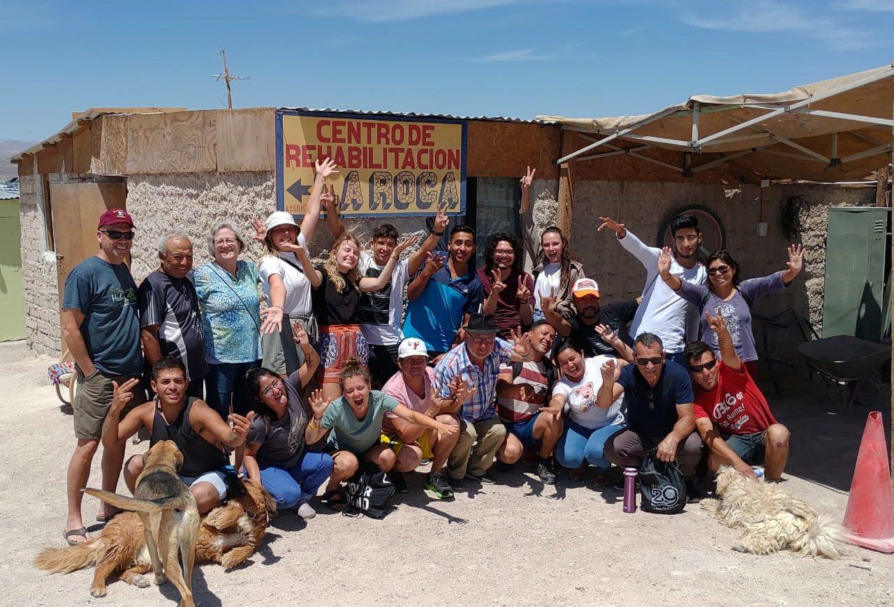 Gruppebilde fra rehabsenter i Chile