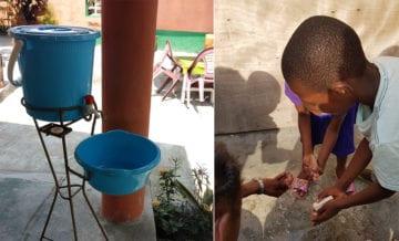 Håndvask i Kongo