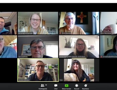 Skjermbilde pastorsamling på zoom