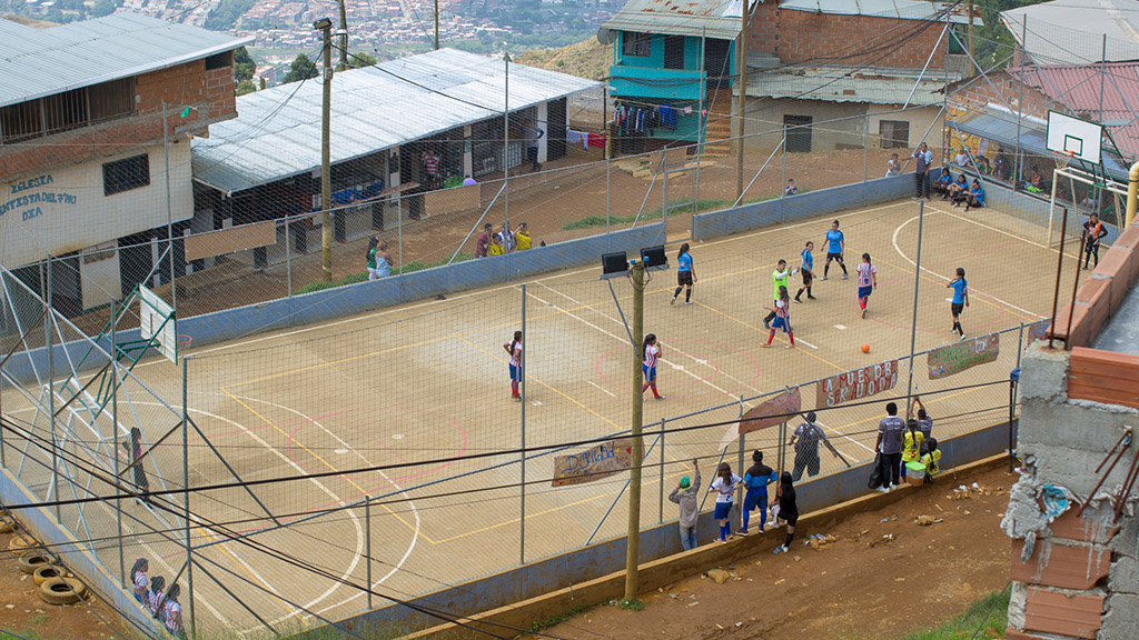 Fotballbanen i Granizal
